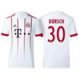 Men - Niklas Dorsch #30 Bayern Munich 2017/18 White Third Champions League Replica Shirt