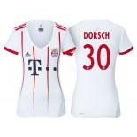 Women - Niklas Dorsch #30 Bayern Munich 2017/18 White Champions League Third Authentic Shirt