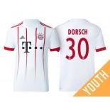 Youth - Niklas Dorsch #30 Bayern Munich 2017/18 White Champions League Third Authentic Shirt
