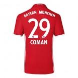 2016-2017 Bayern Munich Kingsley Coman #29 Authentic Home Soccer Jersey -  BUNDESLIGA Football Shirt 16/17 Online Sale Size XS|S|M|L|XL