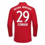 2016-2017 Bayern Munich Kingsley Coman #29 Home Soccer Jersey -  BUNDESLIGA Football Long Shirt 16/17 Online Sale Size XS|S|M|L|XL