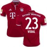 16/17 Bayern Munich #23 Arturo Vidal Replica Red Home Jersey