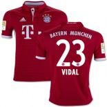 Youth 16/17 Bayern Munich #23 Arturo Vidal Authentic Red Home Jersey