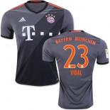 16/17 Bayern Munich #23 Arturo Vidal Replica Grey Away Jersey
