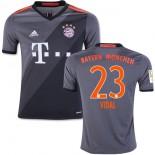 Youth 16/17 Bayern Munich #23 Arturo Vidal Authentic Grey Away Jersey
