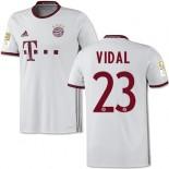 16/17 Bayern Munich #23 Arturo Vidal Replica White Third Jersey