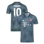 Bayern Munich 2018/19 Third #10 Arjen Robben Gray/Blue Authentic Jersey Jersey