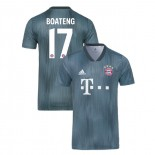 Bayern Munich 2018/19 Third #17 Jerome Boateng Gray/Blue Replica Jersey