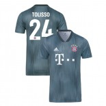 Bayern Munich 2018/19 Third #24 Corentin Tolisso Gray/Blue Authentic Jersey Jersey