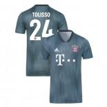 Bayern Munich 2018/19 Third #24 Corentin Tolisso Gray/Blue Authentic Jersey Jersey
