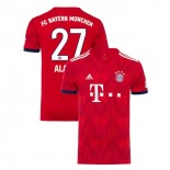 Bayern Munich 2018/19 Home #27 David Alaba Red Authentic Jersey Jersey