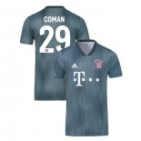 Bayern Munich 2018/19 Third #29 Kingsley Coman Gray/Blue Authentic Jersey Jersey