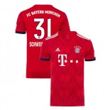 Bayern Munich 2018/19 Home Farewell Game #31 Bastian Schweinsteiger Red Authentic Jersey Jersey