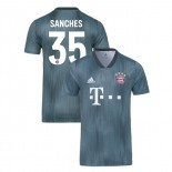 Bayern Munich 2018/19 Third #35 Renato Sanches Gray/Blue Authentic Jersey Jersey