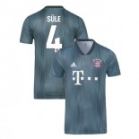 Bayern Munich 2018/19 Third #4 Niklas Sule Gray/Blue Replica Jersey