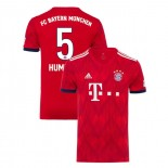 Bayern Munich 2018/19 Home #5 Mats Hummels Red Authentic Jersey Jersey