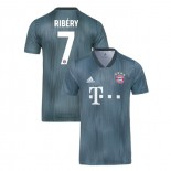 Bayern Munich 2018/19 Third #7 Franck Ribery Gray/Blue Authentic Jersey Jersey