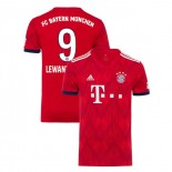 Bayern Munich 2018/19 Home #9 Robert Lewandowski Red Authentic Jersey Jersey
