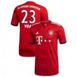 Bayern Munich 2018/19 Replica Home #23 Arturo Vidal Red Replica Jersey