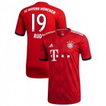 Bayern Munich 2018/19 Authentic Jersey Home #19 Sebastian Rudy Red Authentic Jersey Jersey
