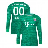 2019-20 Bayern Munich Goalkeeper Home #00 Custom Green Authenitc Jersey