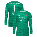 2019-20 Bayern Munich Goalkeeper Home #1 Manuel Neuer Green Authenitc Jersey