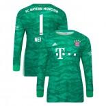 2019-20 Bayern Munich Goalkeeper Home #1 Manuel Neuer Green Authenitc Jersey