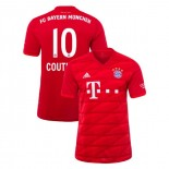 2019-20 Bayern Munich Stadium #10 Philippe Coutinho Red Home Authenitc Jersey