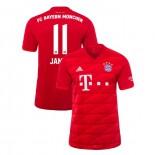 2019-20 Bayern Munich #11 James Rodriguez Red Home Authenitc Jersey