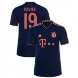 2019-20 Bayern Munich Champions League #19 Alphonso Davies Navy Third Authenitc Jersey