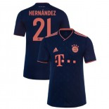2019-20 Bayern Munich Champions League #21 Lucas Hernandez Navy Third Authenitc Jersey