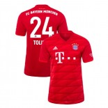 2019-20 Bayern Munich #24 Corentin Tolisso Red Home Replica Jersey