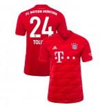 2019-20 Bayern Munich #24 Corentin Tolisso Red Home Authenitc Jersey