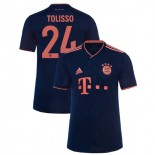 2019-20 Bayern Munich Champions League #24 Corentin Tolisso Navy Third Authenitc Jersey