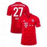 2019-20 Bayern Munich #27 David Alaba Red Home Authenitc Jersey