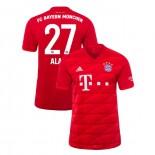 2019-20 Bayern Munich #27 David Alaba Red Home Authenitc Jersey