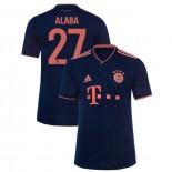 2019-20 Bayern Munich Champions League #27 David Alaba Navy Third Authenitc Jersey