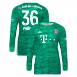 2019-20 Bayern Munich Goalkeeper Home #36 Christian Fruchtl Green Authenitc Jersey
