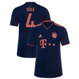 2019-20 Bayern Munich Champions League #4 Niklas Sule Navy Third Authenitc Jersey