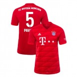 2019-20 Bayern Munich #5 Benjamin Pavard Red Home Replica Jersey
