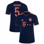 2019-20 Bayern Munich Champions League #5 Benjamin Pavard Navy Third Authenitc Jersey