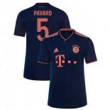 2019-20 Bayern Munich Champions League #5 Benjamin Pavard Navy Third Authenitc Jersey