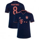 2019-20 Bayern Munich Champions League #8 Javi Martinez Navy Third Authenitc Jersey
