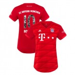 Women's Bayern Munich 2019-20 Home Special Font #10 Arjen Robben Red Authenitc Jersey
