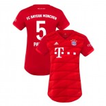 Women's Bayern Munich 2019-20 Home #5 Benjamin Pavard Red Authenitc Jersey