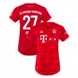 Women's Bayern Munich 2019-20 Home #27 David Alaba Red Replica Jersey