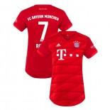 Women's Bayern Munich 2019-20 Home #7 Franck Ribery Red Replica Jersey