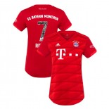 Women's Bayern Munich 2019-20 Home Special Font #7 Franck Ribery Red Replica Jersey