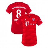 Women's Bayern Munich 2019-20 Home #8 Javi Martinez Red Authenitc Jersey