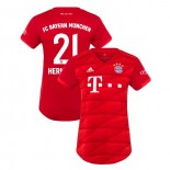 Women's Bayern Munich 2019-20 Home #21 Lucas Hernandez Red Authenitc Jersey